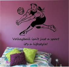 Volleyball Wall Decal Love Sticker Art Decor Bedroom Design Etsy Wall Stickers Sports Wall Decals Sticker Art