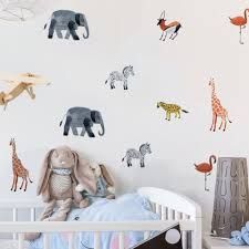 Tropical Zoo Forest Animals Woodland Wall Stickers Gallery Wallrus Free Worldwide Shipping