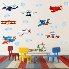 Boys Airplane Cloud Nursery Wall Decal Cartoon Sticker Children Room Art Decor For Sale Online
