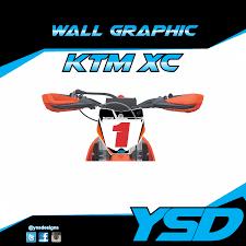 Ktm Xc Wall Graphic Y S Designs Llc