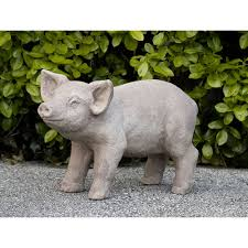 pig large cast stone outdoor statue