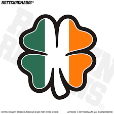 Irish Flag Shamrock Decal Ireland Green Clover Celtic Vinyl Sticker Rotten Remains High Quality Stickers Decals