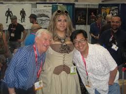 Doug Sneyd, Ivania Turner and Frank Cho at Big Wow Booth, in Royd  Burgoyne's SDCC 2011 Photos Comic Art Gallery Room
