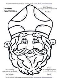 Masker Sinterklaas Kleurplaat Sinterklaas Knutselen