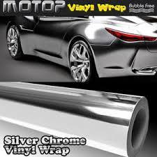 Silver Chrome Mirror Wrap Vinyl Film Car Stickers Decal Sheet Bubble Free 6 60 Ebay
