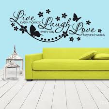 Wall Vinyl Sticker Words Sign Quote Lettering Live Every Moment Z1169 Ebay