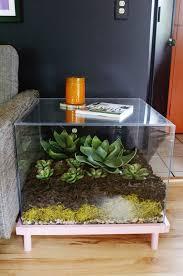 coffee table modern circle fish tank