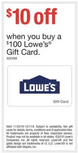expired staples 100 lowe s giftcard