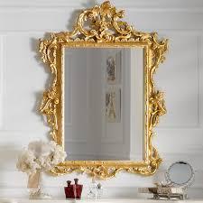 gold leaf rococo wall mirror