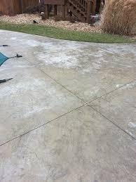 reseal exterior decorative concrete