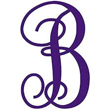 Amazon Com One Single Letter B Monogram Decal 3 Tall White Or Choose From 13 Colors No Background Made By Maple Creek Everything Else