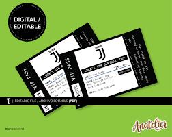 Invitacion De Cumpleanos Juventus Imprimible Birthday