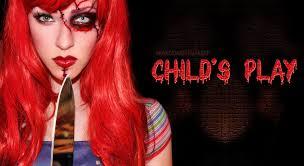 beauty halloween fotd chucky doll
