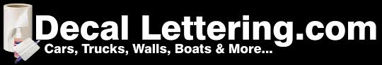Boat Numbers Decal Lettering
