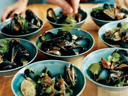 Steamed Mussels with Coconut Milk and ...