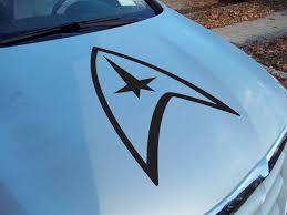 Buy Trek Badge Uss Ncc Enterprise Spock Vulcan Decal Car Truck Van Hood Vinyl Sticker