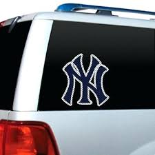Yankees Car Decal Big New House Perforated Truck York Stickers Windshield Window Sutanrajaamurang