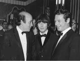 2 giugno 1965 Richard Lester, George Harrison e Brian Epstein alla premiere  del film The Knack e How To Get It | The beatles