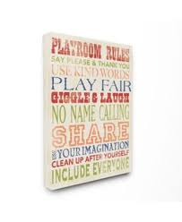 Stupell Industries The Kids Room Playroom Rules In Four Colors Canvas Wall Art 30 X 40 Reviews All Wall Decor Home Decor Macy S