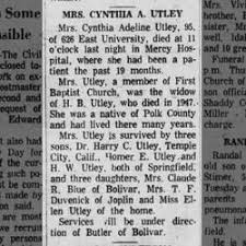 Cynthia Adeline Mitchell Utley (1865-1961) - Find A Grave Memorial