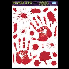 Dexter Psycho Bloody Hand Print Cling Halloween Decoration Prop Murder Victim