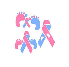 Infant Loss Awareness Color Die Cut Vinyl Decal Ribbon Car Sticker Sids Support