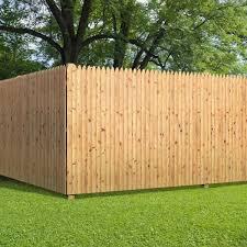 Unbranded 6 Ft X 8 Ft Cedar Moulded Stockade Fence Panel 405799 The Home Depot