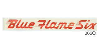 1953 1955 Chevy Blue Flame Six Valve Cover Decal