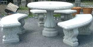 concrete in garden and patio furniture