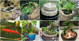 mini water garden ideas