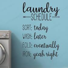 Laundry Schedule Wall Decal Laundry Room Vinyl Wall Sticker Laundry Window Wall Decor Removable Wall Art Mural Hj742 Wall Stickers Aliexpress