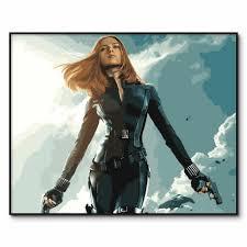 Quả Phụ Đen Poster Tranh Bằng Số Các Avengers Scarlett Johansson Tô Màu  Bằng Số Dành Cho Người Lớn Màu Acrylic Theo Số Lượng|