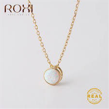 roxi white opal pendant necklace for