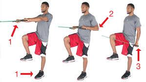 single leg resistance band row to