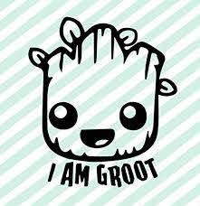 Amazon Com Baby Groot I Am Groot Face Vinyl Decal Guardians Of The Galaxy Sticker Groot Decal Handmade