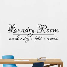 Amazon Com Laundry Room Wall Decal Wash Dry Fold Repeat Sste Lettering Wall Vinyl Sticker Bathroom Housewares Decor Wall Art Print Poster Design Mural 70ss Home Kitchen