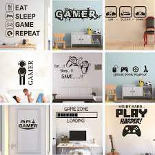 2020 Gamer Vinyl Wall Sticker Game Room For Kids Room Decoration Wall Murals Boys Bedroom Decor Gaming Poster Wallpaper Wall Stickers Aliexpress