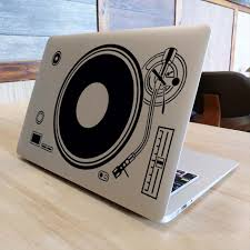 Dj Technics Deck Record Player Laptop Sticker For Apple Macbook Decal Air Pro Retina 11 12 13 15 Decorative Mi Notebook Decal Aliexpress Com Imall Com