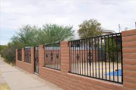 Old Pueblo Masonry Gate Wrought Iron Fence Tucson Arizona