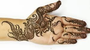 simple bridal mehndi designs half hand