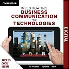 Investigating Business Communication and Technologies PDF Textbook:  Rasmussen, Rhonda, Mylonas, Aliisa, Beck, Hilary: 9781139725927:  Amazon.com: Books