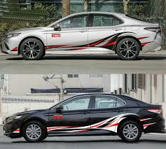 Graphics Flame Car Sticker Decal Fit Toyota Camry Side Door Skirt Stripes Vinyl Ebay