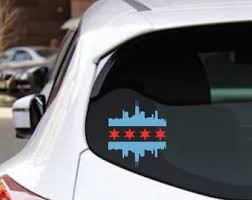 Chicago Flag Decal Etsy