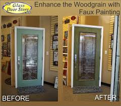faux painting a fiberglass door with