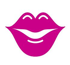 Pretty Anime Cartoon Face Parts Luscious Lips Dark Hot Pink Vinyl De Shinobi Stickers