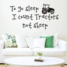 Hot Offer A9e93f Classic Tractor Wall Stickers Home Decor For Boys Room Sticker Bedroom Wall Decal Removable Home Decoration Wallpaper Cicig Co