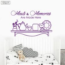 stizzy wall decal creative kitchen quotes meals and memories wall