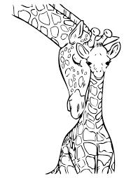 Moeder En Baby Giraf Topkleurplaat Nl