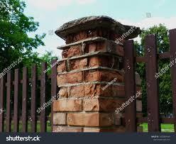 Decaying Brick Fence Post Concrete Cap Stock Photo Edit Now 1437884189