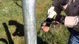 Tying Barb Wire To A Strainer Post Youtube